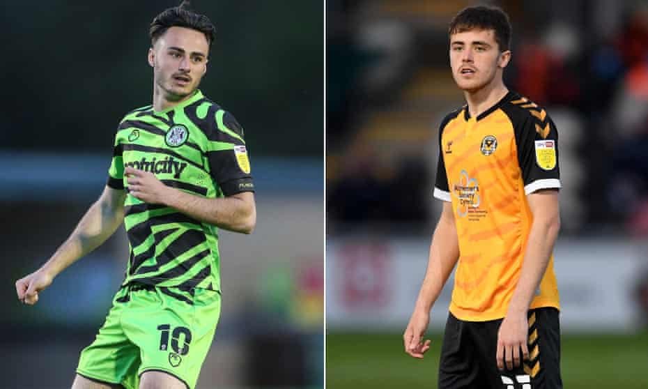 Forest Green's Aaron Collins (left) and Newport's Lewis Collins say they will swap shirts at the end of the game.