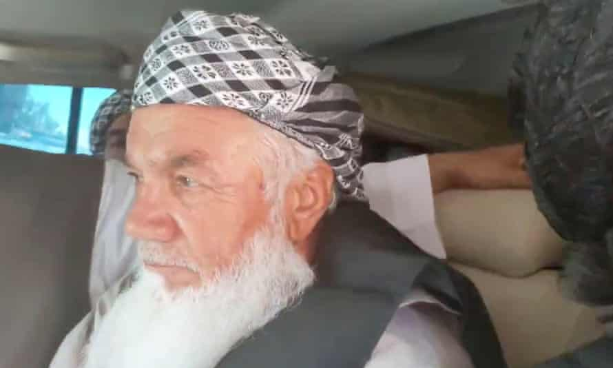 A Taliban image of Ismail Khan in captivity.