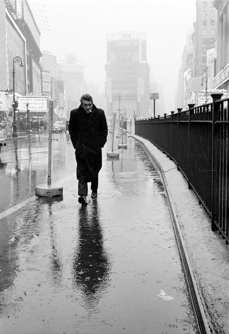 'The icon got in the way' ... Stock's shot of James Dean, New York, 1955.