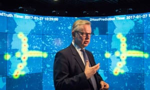 Michael Gove at Imperial College London's Data Science Institute, where he launched the government's clean air strategy.