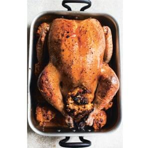 Nigel Slater's roast turkey and sweet potato stuffing.