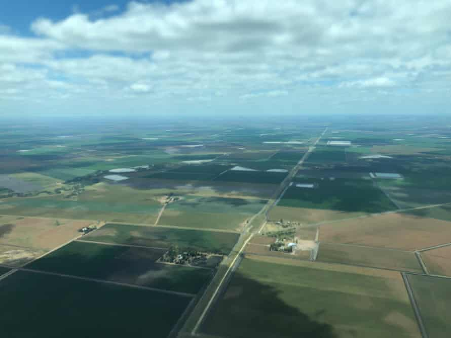 Water storages in the Darling Downs in southern Queensland.