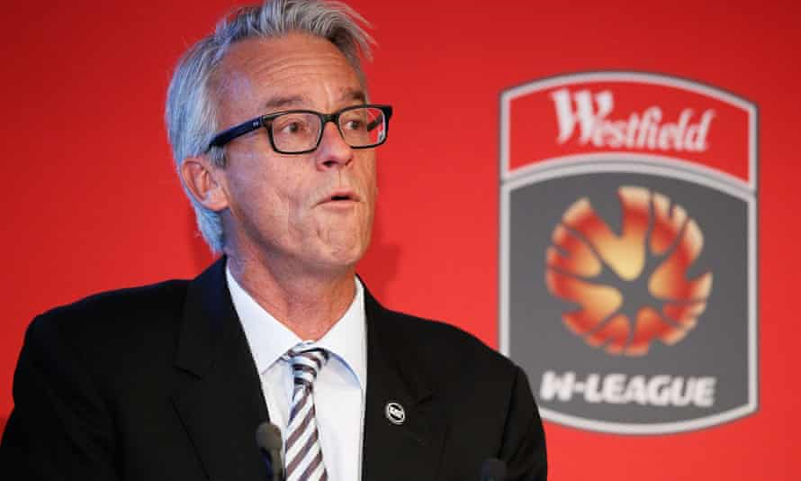 David Gallop uses the W-League launch in Sydney to reiterate his view that the Matildas had been dragged into the dispute about pay in the men's game.