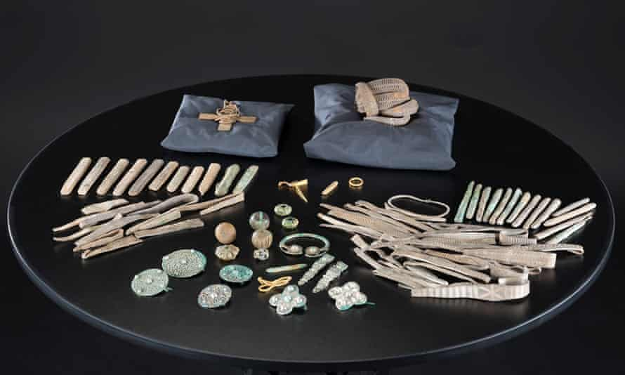 The Galloway Hoard, which includes more than 100 items, was acquired by National Museums Scotland in 2017.