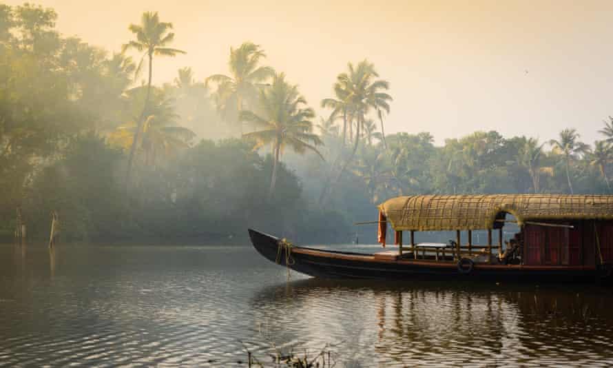 Houseboat on the Kerala backwaters.