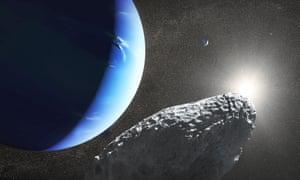 Artist's concept of Neptune's Hippocamp moon.