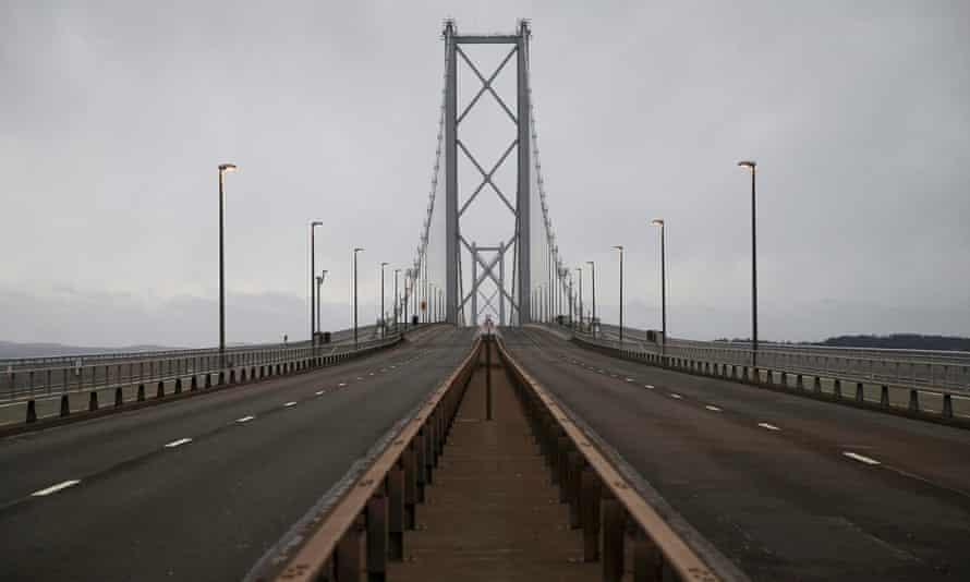 An empty Forth Road Bridge