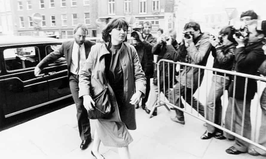 Sarah Tisdall leaves Bow Street Magistrates Court after being committed to the Old Bailey for trial.