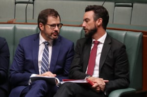Ed Husic and Tim Hammond during question time