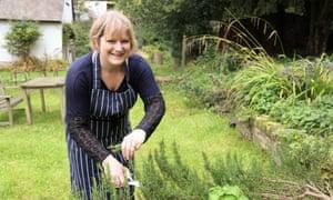 Rosie Sykes in her garden