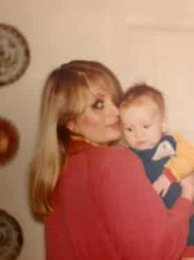 Elizabeth Hepworth in the 80s with her youngest child.