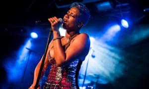 Kelis performing in Cardiff in 2018.