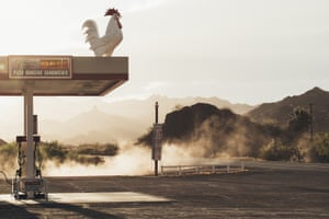 Southern Winds. The rooster standing proudly on top of the gas station made me stop during a hot day on the road in Arizona
