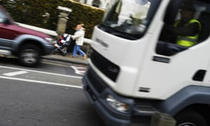 Lorry on road in London