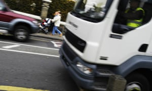 Lorry speeding in South London, oblivious to speed humps and schoolchildren
