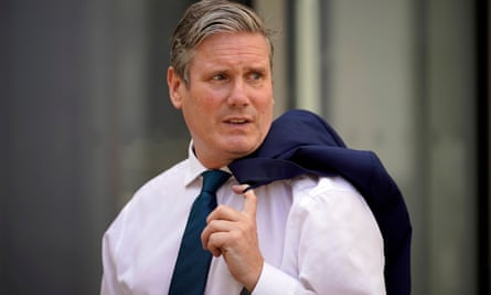 The Labour leader Keir Starmer arrives at Wakefield College