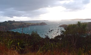 Waiheke Island, with Auckland in the distance. The island is one place where water quality has been affected by sewage.