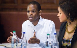 Ntokozo Qwabe, co-founder of the successful Rhodes Must Fall campaign during its debate at the Oxford Union.