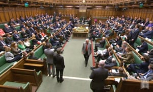Labour MP Dennis Skinner is asked to leave the chamber of the House of Commons.