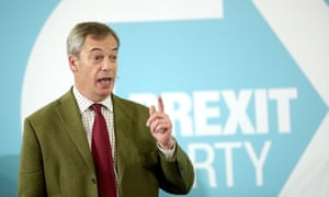 Nigel Farage speaking to Brexit party supporters at Ionians RUFC in Hull.