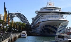 cruise ship docked at circular quay