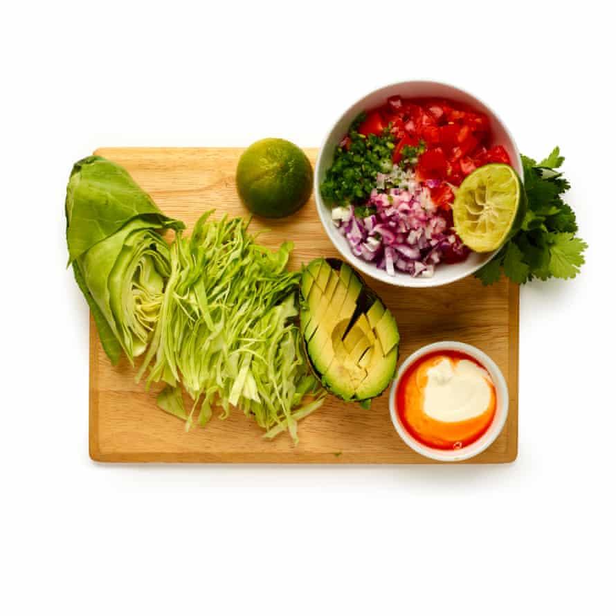 Step 1: prep the vegetables.