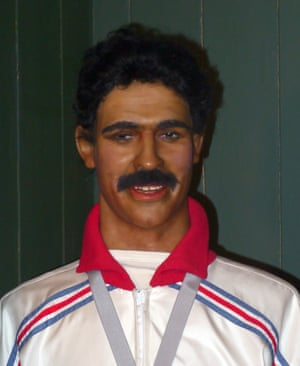 Waxwork of Daley Thompson Louis Tussauds House of Wax Museum, Great Yarmouth, Norfolk, Britain