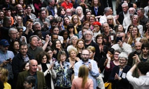 Five-hundred people perform David Lang's In the Public Domain at the Barbican.