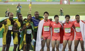 Japan's 4x100 men's relay team came second to Jamaica at Rio.