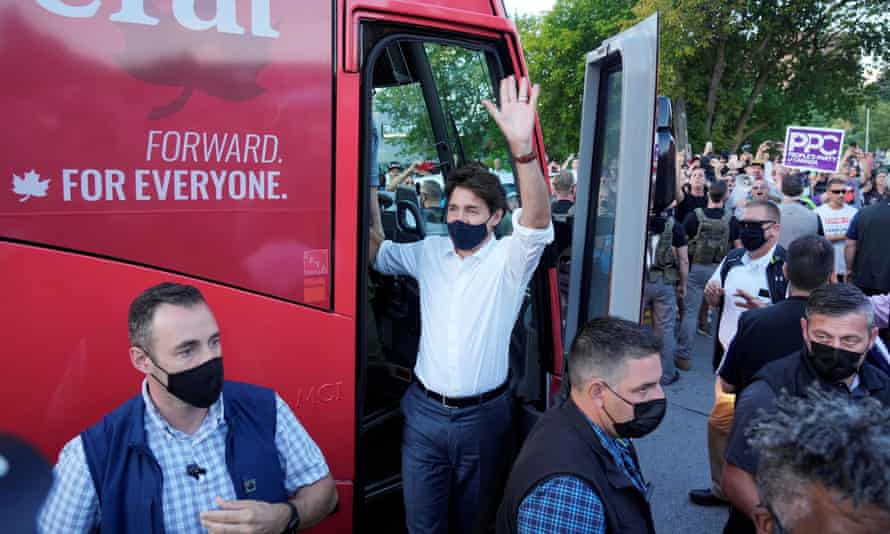 Justin Trudeau on the campaign trail