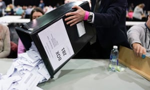 vote counting on election night
