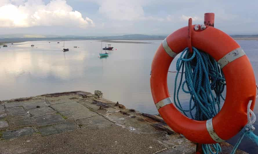 The harbour at Findhorn, Moray.