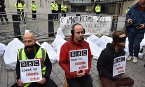Friday's demonstration outside BBC headquarters.