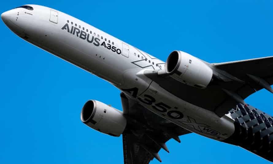 An Airbus A350 XWB.