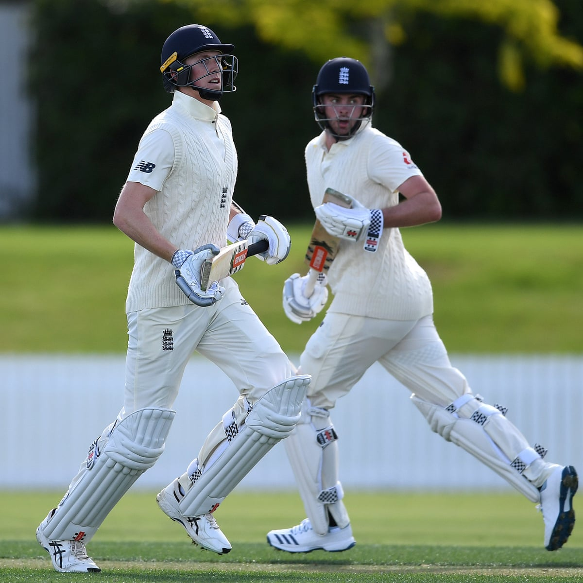 England's Dom Sibley and Zak Crawley record debut centuries in tour match |  Sport | The Guardian