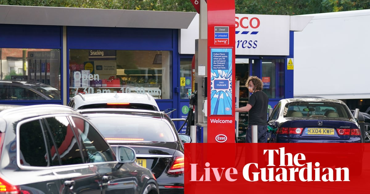 UK petrol stations show 'very tentative signs of stabilisation', says transport secretary – business live