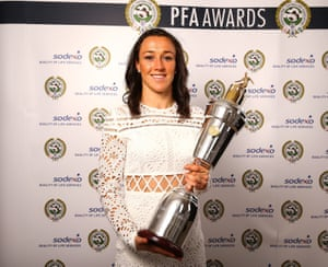 Manchester City's Lucy Bronze with her award.