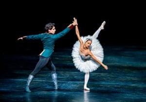 Francesca Hayward and Cesar Corrales in Swan Lake