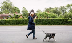 Four legs good … having a dog has health benefits.