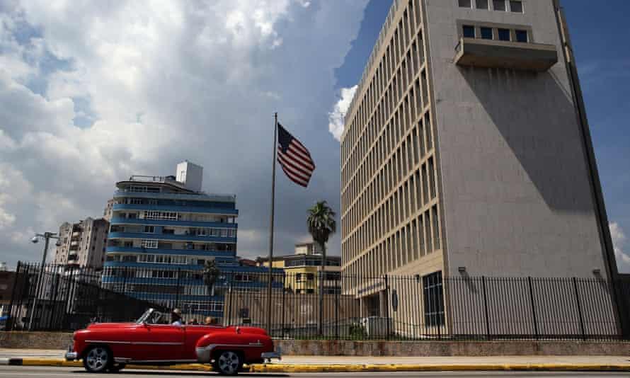US embassy in Havana, Cuba.