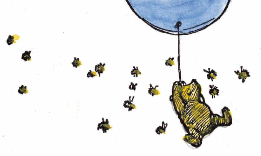 Rising above the competition … Winnie-the-Pooh.