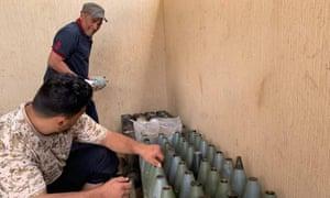 The Libyan Army captures ammunition left by Haftar's militias