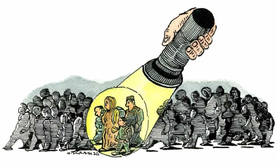 Andrzej Krauze illustration for television news