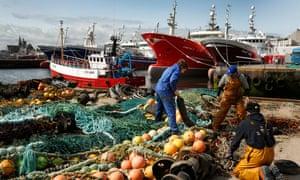 Fishing community in Fraserburgh, Scotland