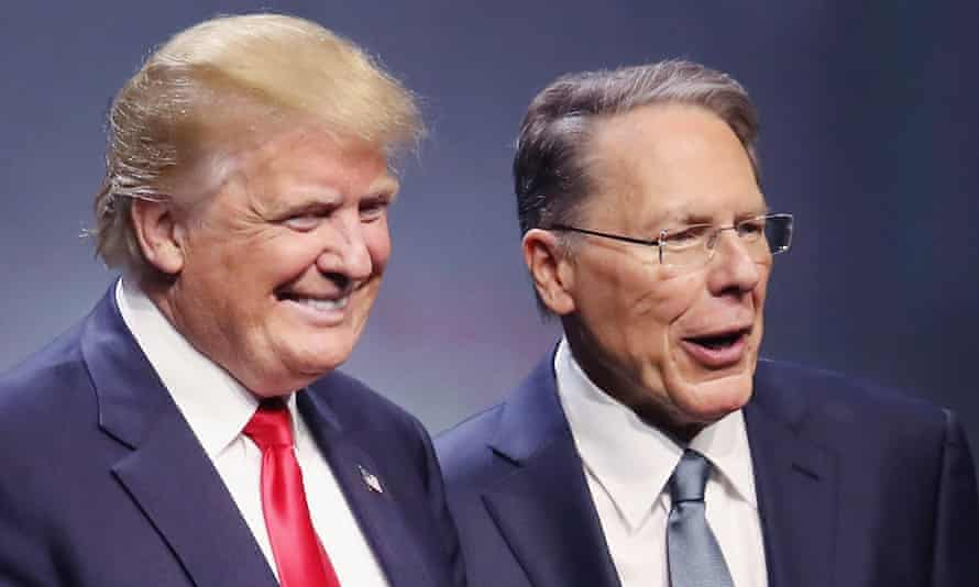Donald Trump with the NRA CEO, Wayne LaPierre, who sees a unique opportunity under the incoming president.