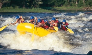 White-water rafting on the Ottawa River.