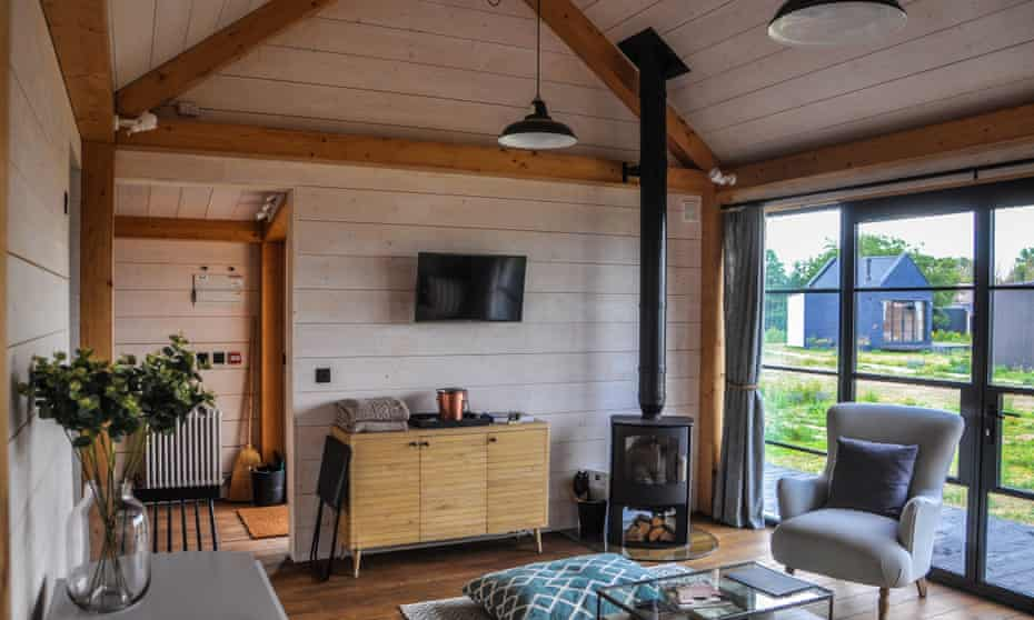 Inside one of Cabu by the Sea's stylishly pared-back cabins.