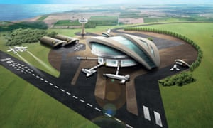 Artist's impression of a UK spaceport