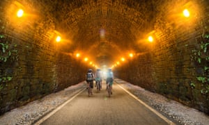 An impression of how a cycle path through the disused Queensbury rail tunnel could look
