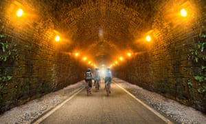 An impression produced by campaigners of how a cycle path through the disused Queensbury rail tunnel could look.